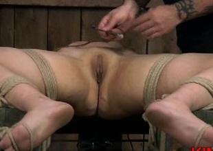 Subjugation slut butt spanking