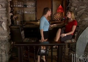 Blonde in miniskirt takes ejaculation after receiving a sexy missionary style sex