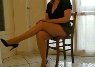 My nasty wifey teases with her legs and shows her booty