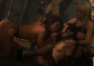 Threesome with some female dominas
