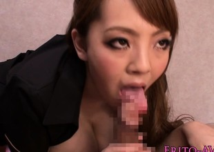 Monsterboobs Hitomi Tanaka gets cum mouthful