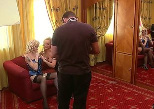 Tow-haired Silvia Saint and Stacy E stars in steamy girl-on-girl action