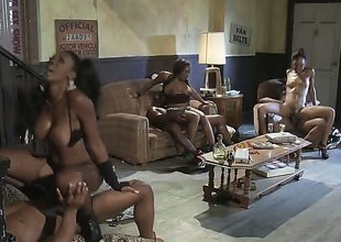 Fiery foursome is where Jada Fire shines the brightest. For both her and her friend, theres a big dusky cock and they take them on ask preference the professionals that they are