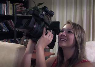 Ash Hollywood is here to make an educational video on how to have sex properly. So she takes off her uniform and gets her friend to film her with her boyfriend