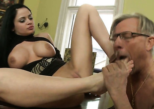 Anastasia Brill enjoys cock sucking too much to stop in voiced action with Christoph Clark