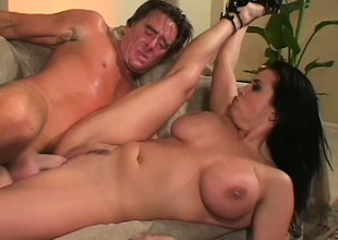 Stacked dark brown seduces Kyle Stone and has him banging her fiery twat
