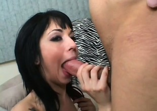 Spunky Punk Coed Taking Thick Facial