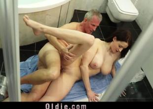 Big melons beauty horny to fuck married oldmen