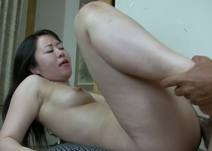 Full of emotions Japanese floozy Nozomi Onuki gets hammered mish and doggy