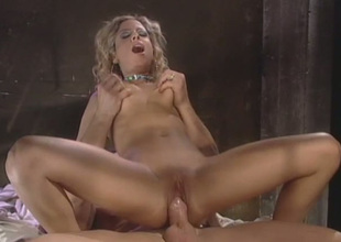 Curly slender and buxom auburn MILF gets her twat nailed missionary
