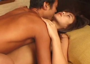 Awesome brunette from Japan gives stout BJ before classic mish fuck