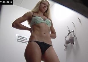 Czech Blond Cuttie Spied in Shopping Mall
