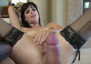 Nasty beauty Bobbi Starr gets her butt hole drilled at the end of one's tether Toni Ribas