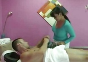 Sex massage with sexy oriental