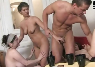Teen pair gets to fuck those three