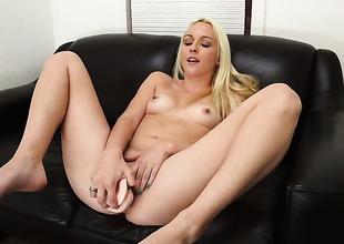 Ashley Stone with phat ass shows off her sexy body as she gets her mouth banged by mans thickset man meat
