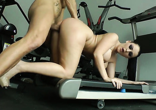 Sophie Dee suggests her fuckable mouth to hard cocked Nacho Vidal
