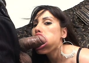 Big breasted mommy shows off her body and gets fucked rough in the a-hole