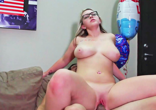 Sunny Hart displays her large and enormous titties