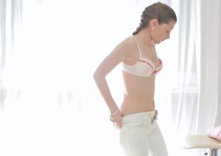 Lovely minx gets her sexy cum-hole massaged in this film