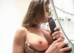 Lex Steele likes hot sluts...and Rita Faltoyano is just the right combination of sexy and slutty to drive his rocks wild! This chab stuffs his massive pole down her through, and then in betwixt her sweet jugs. This chab then rolls her over and pounds her taut little p