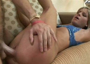 Stunning auburn hoe Courtney Simpson gets hammered from behind