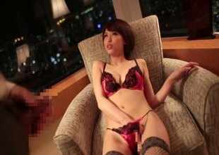 Romantic Japanese hardcore sex with a true beauty