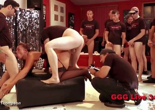 Three German sluts banged by a group of guestimated guys