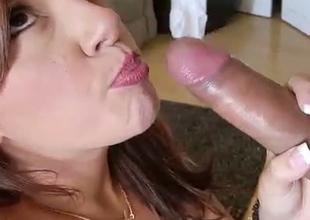 Redhead sassy slut Rissa is an average cock sucker