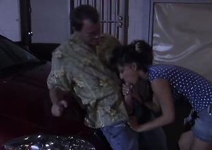 Carmen Hart is giving a blow job
