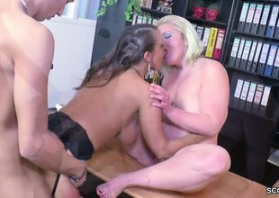 Real Casting for German Pair with Female Porn Agent