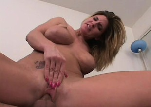 Nasty pretty good MILF gets paid to endure a violent anal ravaging