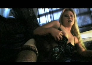 Lusty Oriental blonde with a flawless body enjoys some intense fucking