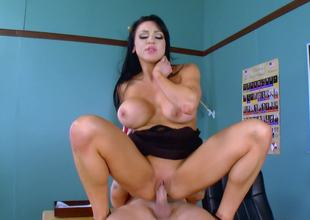 A dirty teacher gets her cunt pounded in her office by a student
