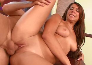 Miley Ann manhandled and fucked by the big dick guy