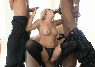 Sean Michaels and Marco Banderas in the same room...that's a whole lot of cock! Only one floosie can handle this much shaft and it happens to be Kylee Reese! Watch as these two studs work her mouth and then pound deep in to her sexy pussy. Once she's got fuck