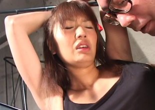 Enticing Japanese MILF bitch in underware gets a snatch inculcate