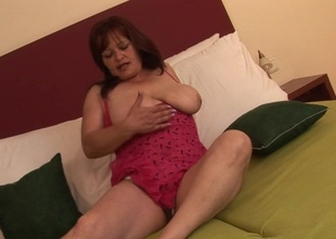 Mama with the large boobs likes her toys