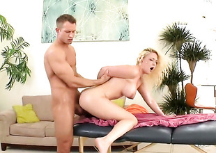 Blond Tristyn Kennedy shows her love for love juice in wild spunk fountain scene