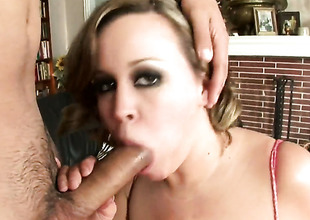 Brandy Talore with effervescent butt having sensual sex