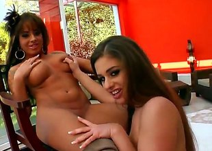 Cathy Heaven is not ever enough and licks Megan Coles another time and another time