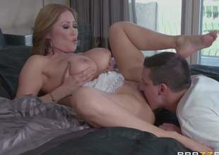 Exotic Chinese mom Kianna Dior with valuable huge milk sacks shows her assets as this babe enjoys hot sex with Sunny Nash. She gets mouth fucked before it comes to cum-hole pounding. This horny breasty mom takes it in her tight oriental hole eagerly