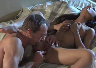 Kaylani Lei is a frowning haired Oriental babe and that babe simply adores pussy fingering. Shes gonna endowment her man for that by riding his large and strong mega sized jimmy