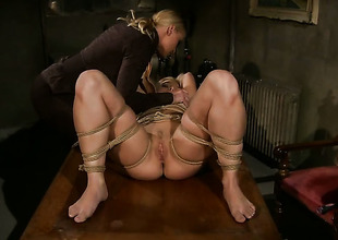 Blond babe Kathia Nobili and Salome are so fucking horny in this lesbo action
