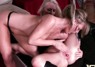 Blond Molly Cavalli is on the way to the height of pleasure in solo scene