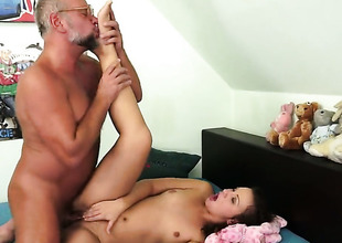 Redhead Hadjara is full of excitement to take hard dick in her cunt