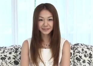 Sakura Hirota sucks cock whilst casting for porn