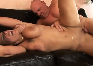 Cum hungry whore Anjelica can't wait to taste his sticky man milk