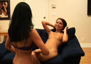 Experienced lady teaches teen Micah how to pleasure her slit