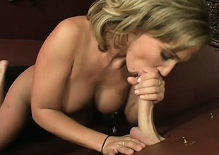 Nikki Sexx gets off from blowing a stranger's pecker at the glory hole